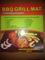 Wholesale BBQ Grill Mat Stick Reusable Washable Plate PTFE Coated Telflon Mats brown CM