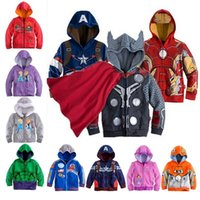 New Cars Sofia Captain America Avenger iron man jackets kids children hooded sweater boys girls printing coat kids casual jacket in stock