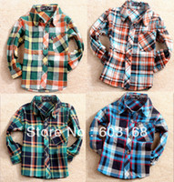 baby flannel shirt - Handsome Plaid Flannel Baby Kid Children Shirts Long Sleeve Shirts iso A2