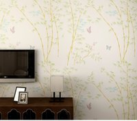 bamboo culture - Bamboo Wall paper Colors Butterfly Chinese Culture Wallpaper Rolls Wall Covering Wedding Decoration Gift