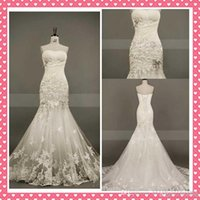 bac black - Actual Images New Sweetheart Strapless Beautiful Applique Tulle Beading Chapel train Mermaid Wedding Dresses Bridal Dresses Bac