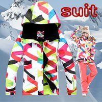 Wholesale New sport ski suit women s jacket Gsou snow ski suit set Women windproof water proof and free breathing super thermal
