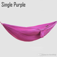 Wholesale Double and single hammock camping survival swing equipment soft ultralight breathable Parachute cloth indoor or outdoor T147R