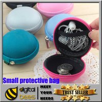 key covers - High Quality Earphone Storage Carrying Bag Retail Package Headphone Earbud Case Cover For USB Cable Key Coin Mini Zipper Case Hot Sale