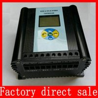 Wholesale LCD wind solar power hybrid Controller w Watts V V regulator w wind generator w solar panel MPPT charger
