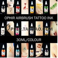airbrush tattoo inks - OPHIR Color x ML Bottle Airbrush Body Art Paint for Temporary Tattoo Inks Pigment