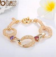 Wholesale Valentines Day Gifts Luxury Zircon Bracelets Austrian AAA Zircon Real K Gold Plated Women Jewelry Gifts m