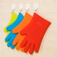 coated gloves - Grilling Gloves Silicone Cooking Gloves BBQ Accessories Best Kitchen Pot Holders and Oven Mitts with Fingers Heat Resistant
