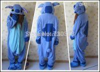 Wholesale Designer Cosplay Anime Blue Lilo Stitch Pajamas Adult Unisex Women Men Onesie Halloween Costume Fleece One Piece Sleepwear