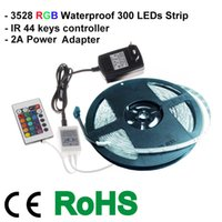 Cheap 3528 RGB strip led strip 300 leds strip Best power adapter