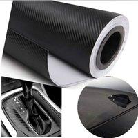 Whole Body carbon fiber sheet - 30x127cm quot x50 quot D Black Gold Carbon Fiber Vinyl Car Wrap Sheet Roll Film Sticker Decal Sales car styling accessories