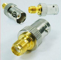 Wholesale New Arrival BNC female jack to SMA female jack RF adapter Antenna connector Gold plated contact A5