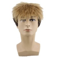 attack girls - Anime cosplay wig short straight hair Attack on Titan Let Men s synthetic lace frant wig gold Brown wig hair