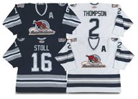 ahl hockey - Factory Outlet Customize Edmonton Road Runners Hockey jersey Hunter Bishai Salmelaine Stoll Thompson AHl jersey sew on your name no