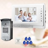 Wholesale quot Video Intercom Door Phone System With White Monitor RFID Card Reader HD Doorbell Camera In Stock A5