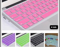 Wholesale Hot Laptop Soft Silicone Colorful KeyBoard Protector Cover Skin For MacBook Pro Air Retina Waterproof Dustproof with retail box