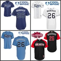 baby brads - Tampa Bay Rays Brad Boxberger Jersey White Dark Baby Blue Cool Stitched Baseball Jerseys Embroidery Logo size S XL