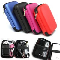 Wholesale Four Colors EVA Nylon Carry Case Cover Pouch Bag For inch USB External Hard Disk Drive HDD PC Laptop x10 x4cm order lt no track