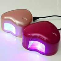 professional nail dryer - Professional W Nail Art Polish Dryer Lamp Gel Cur ing Dry UV LED Light Kit Mini Heart Shap ed For Beauty Nails Tools Hotting