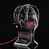 Wholesale Thickness mm Clear Acrylic Headphones Display Stand U type Headphone Stand Holder Headset Cradle Display Stand Rack