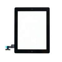 Wholesale Black White High Quality Front Touch Screen Glass Digitizer with Home button For iPad