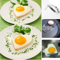 Wholesale Cook Fried Egg Pancake Stainless Steel Heart Shape Mould Mold Kitchen Tool Rings