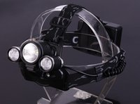 Wholesale Linterna Cabeza CREE XML T6 R5 Mode led headlight headlamp Lumens With AC Car Charger mAh V Battery