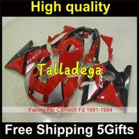 Cheap Plastic Body Fairing Kit Set For HONDA CBR600F2 CBR600 CBR 600 F2 1991 1992 1993 1994 91 92 93 94 Black Red HR-457