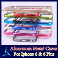 Wholesale High Quality Aluminum Metal Case Ultra Aluminium Frame Bumper Cases For iphone I6 plus Cheap Price With DHL