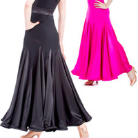 ballroom dancing skirts practice - 2015 New Ballroom Dresses Performance Practice Skirt Ballroom Dancer Clothing For The Waltz Tanto Standard Dance Dress Skirts DQ5020