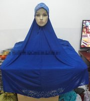 Wholesale Islamic Long Hijab Big size Khimar Dimonds Overhead Abaya Jilbab Al Amira Hijabs Muslim Prayer Dress