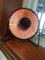 Wholesale Via DHL fashion winter gift wrought iron small solar heater Electric fan inch heater warm office fashion mini fan