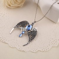 eagle pendant - movie accessories harry potter ravenclaw necklace horcrux vintage antique silver eagle crown diadem pendant jewelry for women