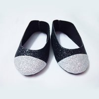 ballet shoes for dolls - factory price Environmental protection quot INCH DOLL SHOES for AMERICAN GIRL Silver black ballet shoe DA46