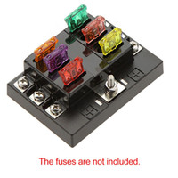 Wholesale Universal Way Circuit Car Fuse Box Holder V DC Waterproof Blade Fuse holder Block for Auto Car Boat High Quality terminal order lt no tr