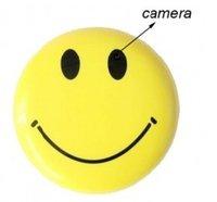 Sourire vidéo Prix-Mini HD Smiley Smile Broche Visage Broche caché Sténopé caméra espion Cam Video Cam DVR enregistreur CCTV voiture DVR
