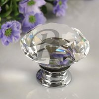 Wholesale 10pcs Pack mm Diamond Crystal Glass Door Drawer Cabinet Furniture Handle Knob Screw