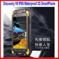 Wholesale Discovery V9 Waterproof IP68 Cell Phone Dual Core MTK6572 GHZ MP mAh G GPS Dustproof Shockproof Outdoor Phone