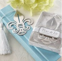 Wholesale Wedding favors And Gifts fleur de lis bookmark favors
