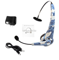 Wholesale Bluetooth PS3 Gaming Headphone Wireless Headset Support Hands free Calling Muilti point Connection Camouflage Color