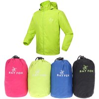 Wholesale Windproof Men Women Cycling Jackets With Storage Pouch Long Sleeve Bicycle Jacket Hooded Coat Casual Sports Clothing