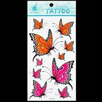 Wholesale 50 sheets cm mixed design waterproof tattoo sticker tattoo comtempory Tattoo butterfly pattern