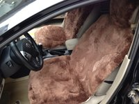 sheepskin car seat covers - Pair Patchwork Sheepskin Car Seat Cover Fur Car Seat Cushion Winter Short Wool Car Cushion Car Seat Cover