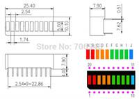 Wholesale 20pcs grid digital segment LED light bar flat tube of super bright red yellow green blue light flat tube