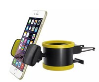 Cheap 2 in 1 New Car Air Vent Air conditioning Outlet Car phone Holder Coca Cola Cups Water Bottle Glass Car Holder