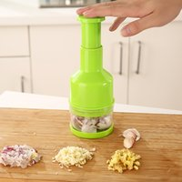 Wholesale New Kitchen Accessories Garlic Triturator Food Chopper Slap Chop Fruit Vegetable garlic press Grater Cooking Slicers Tool Zy00244