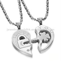 Wholesale Alibaba Hot Sell Fashion stainless steel jewelry love couple necklaces stainless steel jewelry