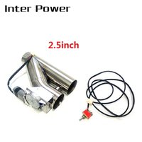 Wholesale adjustable stainless steel exhaust pipe muffler tip quot ELECTRIC Y PIPE CUTOUT electric control IP PP A exhaust
