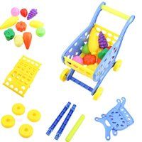Wholesale New Mini Baby Walker Supermarket Shopping Cart Simulation Trolley Kids Funny Toy