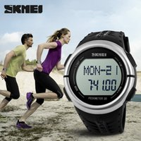 calorie counter watch - Luxury brand skmei LED Digital Watch D Pedometer Heart Rate Monitor Calories Counter sports watch relogio masculino Wristwatch